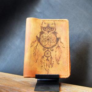 Обложка для паспорта с гравировкой